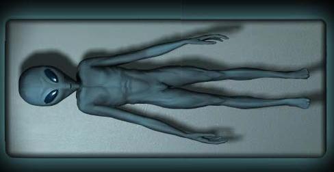 Drawings of naked aliens
